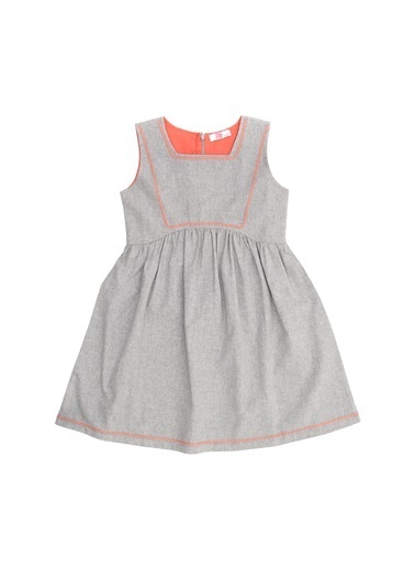 Pink&Orange Elbise Gri